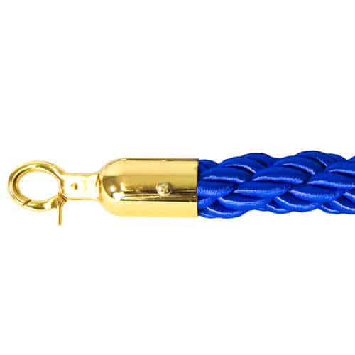 6 Prestige Brass Poles With 4 Blue Braided Ropes Product Gallery Image