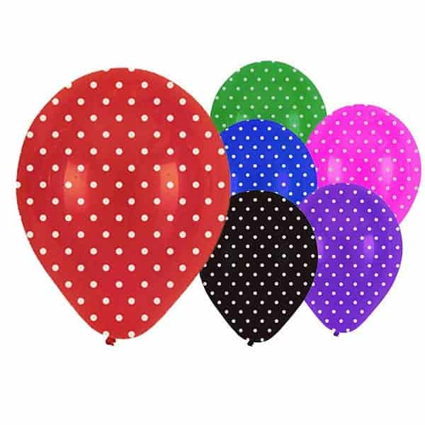 Dots Latex Balloons - 12 Inches / 30cm - Pack of 6 Product Image