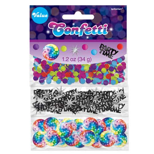 70s Disco Confetti - 34 Grams - Pack of 3 Product Image