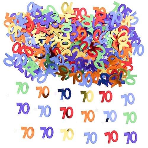 70th Birthday Table Confetti - 14 Grams