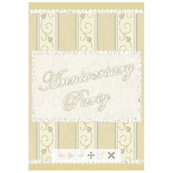 Dazzling Anniversary Invitations with Envelopes - Pack of 8 Product Image