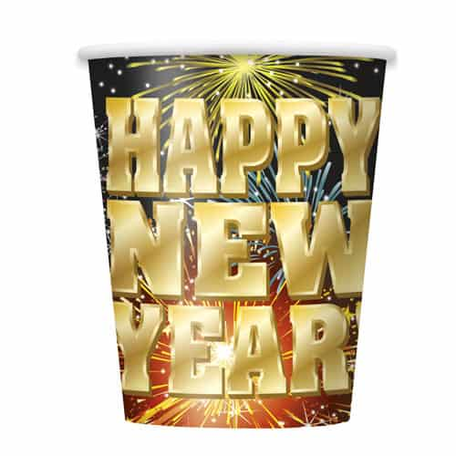 Fireworks New Year Paper Cup 270ml