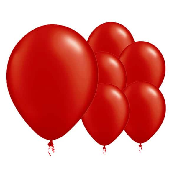 Flame Red Biodegradable Latex Balloons - 12 Inches / 30cm - Pack of 8
