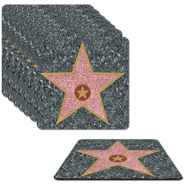 Hollywood Awards Night Themed Coasters - Pack of 8