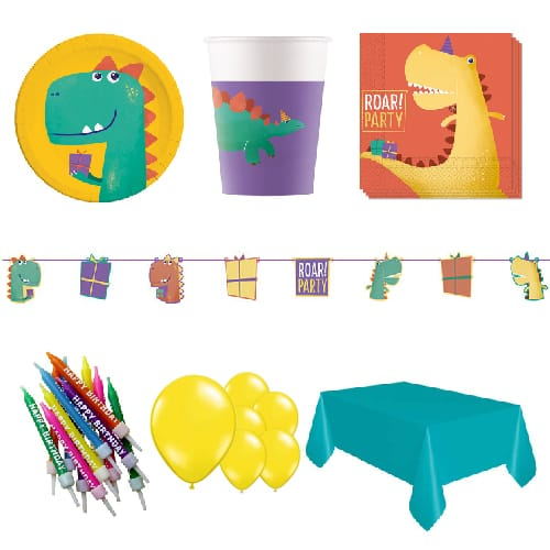 Dinosaur Roar 8 Person Deluxe Party Pack