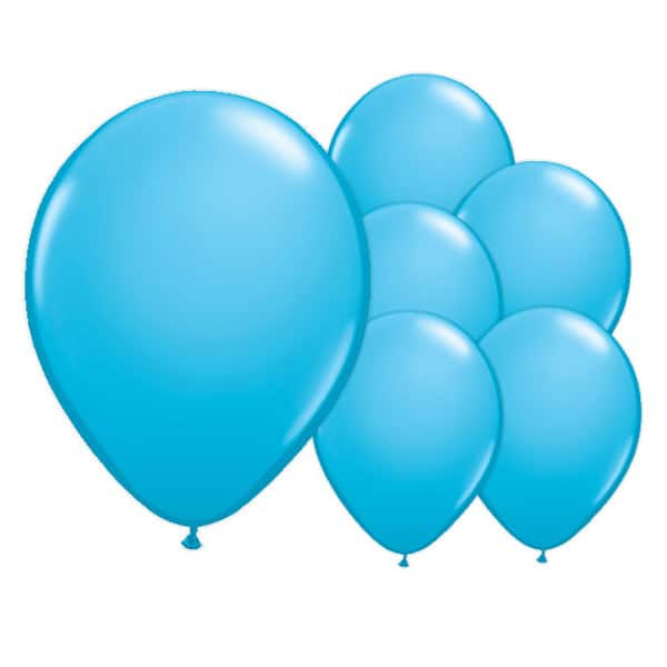 Sky Blue Biodegradable Latex Balloons - 12 Inches / 30cm - Pack of 8 Bundle Product Image
