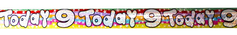 9 Today Holographic Banner - 260cm Product Image