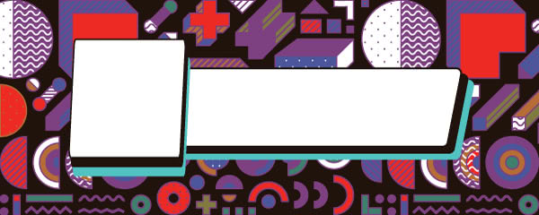 90s Geometric Pattern Design Small Personalised Banner - 4ft x 2ft