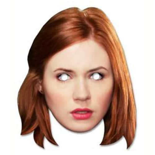 Dr Who Amy Pond Cardboard Face Mask