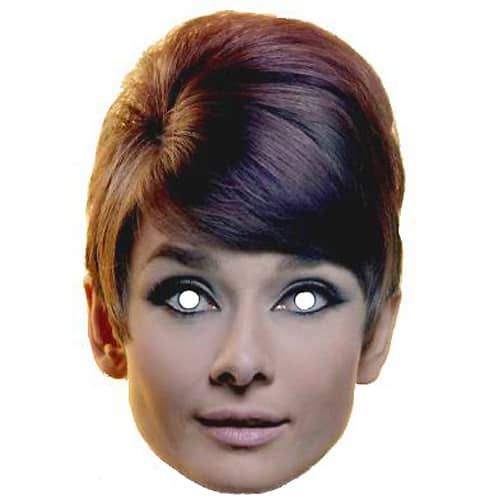 Audrey Hepburn Cardboard Face Mask Product Image