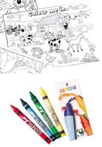 Barnyard A4 Colouring Sheet with 4 Crayons Product Image