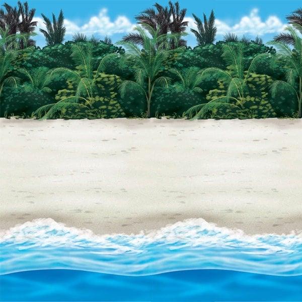 Beach Backdrop Scene Setters Room Roll