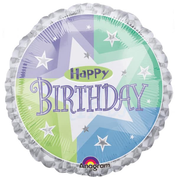 Birthday Shimmer Foil Helium Balloon 46cm / 18Inch Product Image