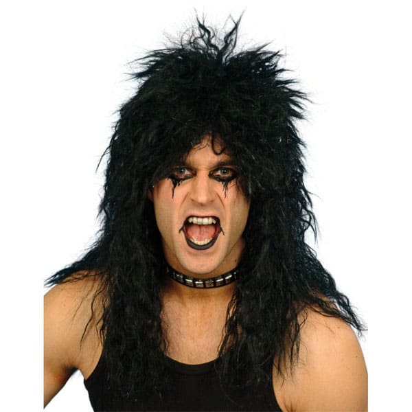 Black Alice Cooper Mens Long Wig Product Image