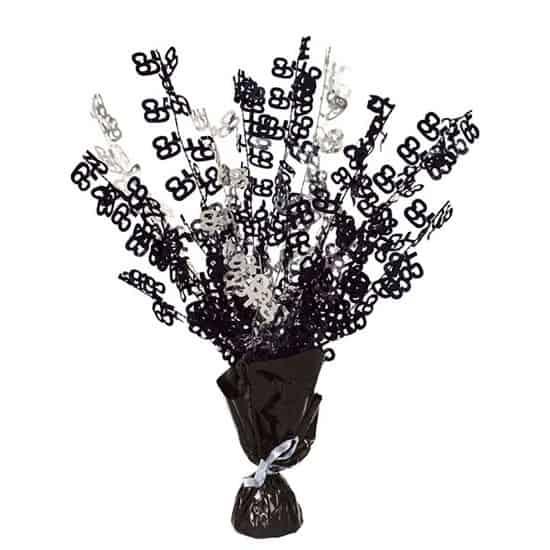 Black Glitz 65th Birthday Balloon Weight Centrepiece Product Image