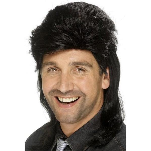 Black Jason Donovan Mens Long Wig Product Image