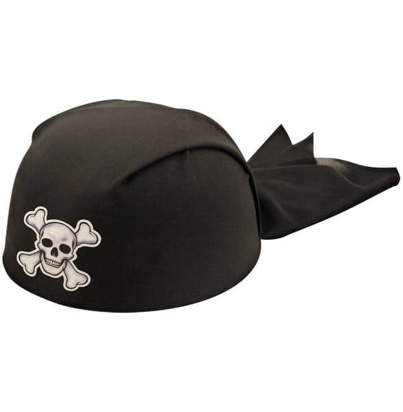 Black Pirate Bandana Adults Hat Product Image