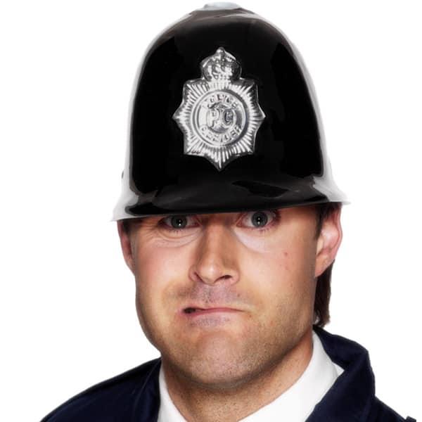 Black Plastic Police Helmet