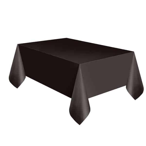 Black Plastic Tablecover 274cm x 137cm