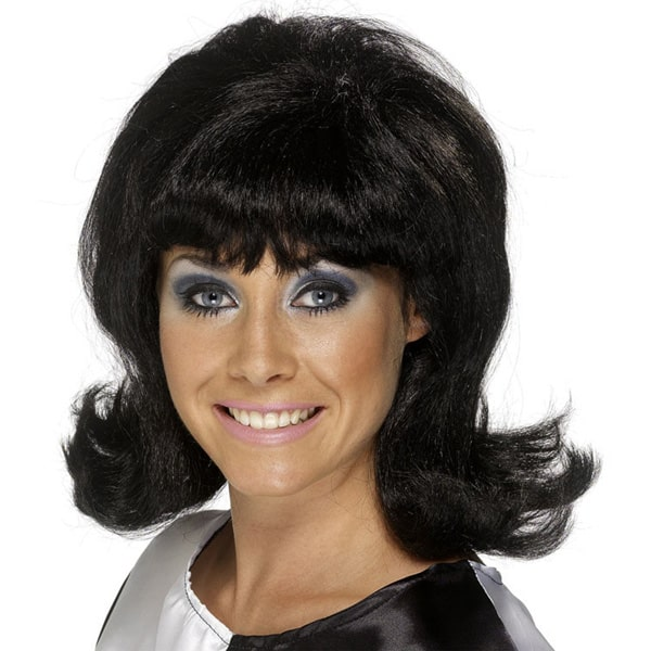 Black 60's Flick Up Ladies Short Wig Product Image
