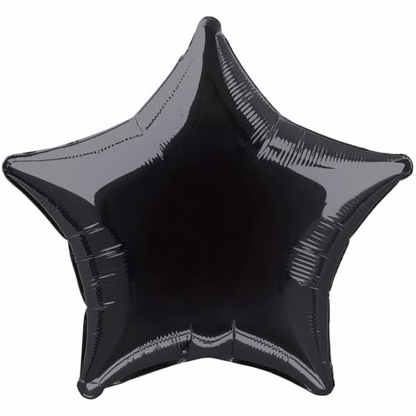Black Star Foil Helium Balloon 51cm / 20Inch