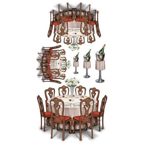 Black-Tie Dining Props Backdrop Scene Setter Add-Ons Product Image