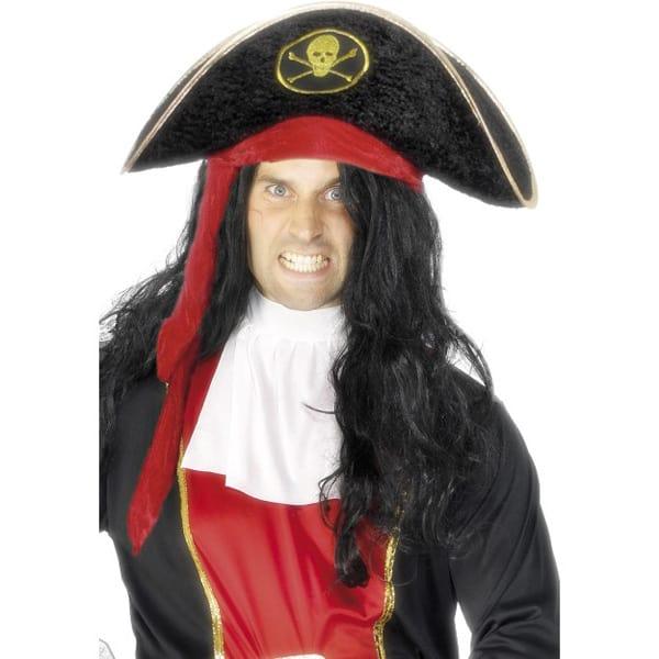Black Velour Pirate Hat