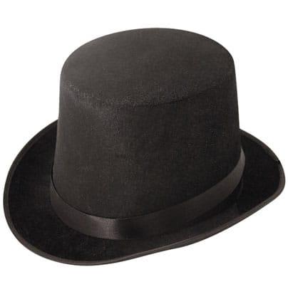 Black Velour Topper Hat Product Image