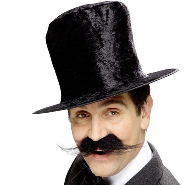 Black Velvet Topper Hat