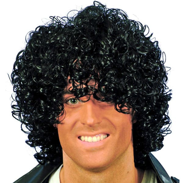 Black Wacko Mens Short Wig Product Image