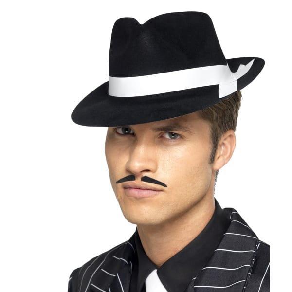Black & White Band 'Al Capone' Trilby Hat
