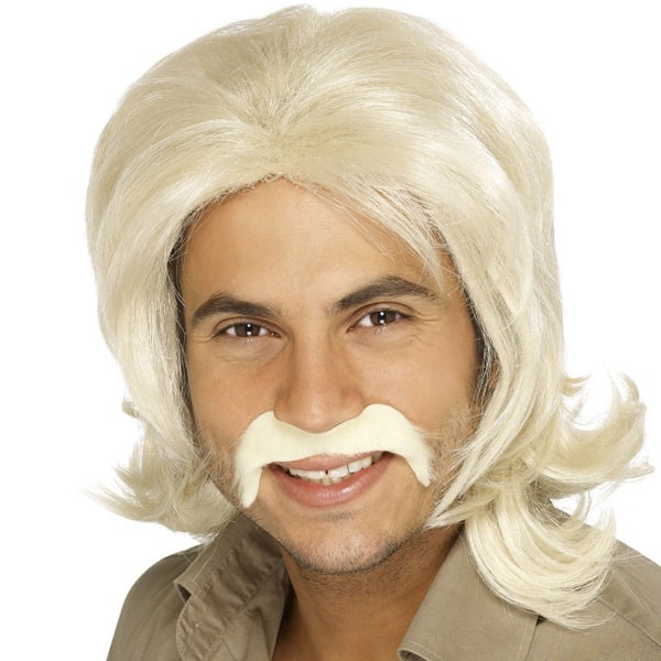 Blonde 70's Bee Gee Mens Long Wig Product Image