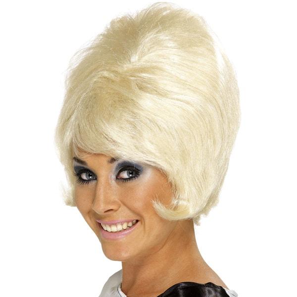 Blonde 60's Beehive Ladies Short Wig