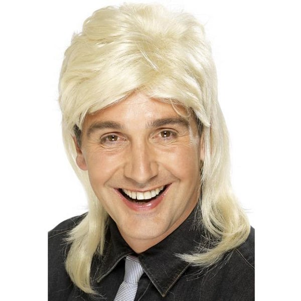 Blonde Mix Jason Donovan Mens Long Wig Product Image