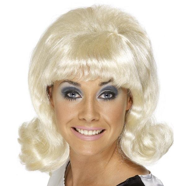 Blonde 60's Flick Up Ladies Short Wig