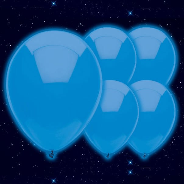 Blue Illoom Balloons - 9 Inches / 23cm - Pack of 5