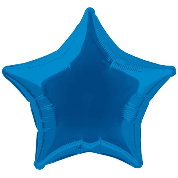Blue Star Foil Helium Balloon 51cm / 20Inch Product Image