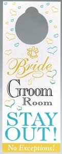 Bride and Groom Stay Out Door Hanger Product Image