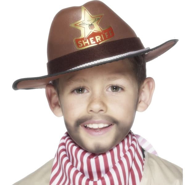 Brown Childrens EVA Cowboy Hat Product Image