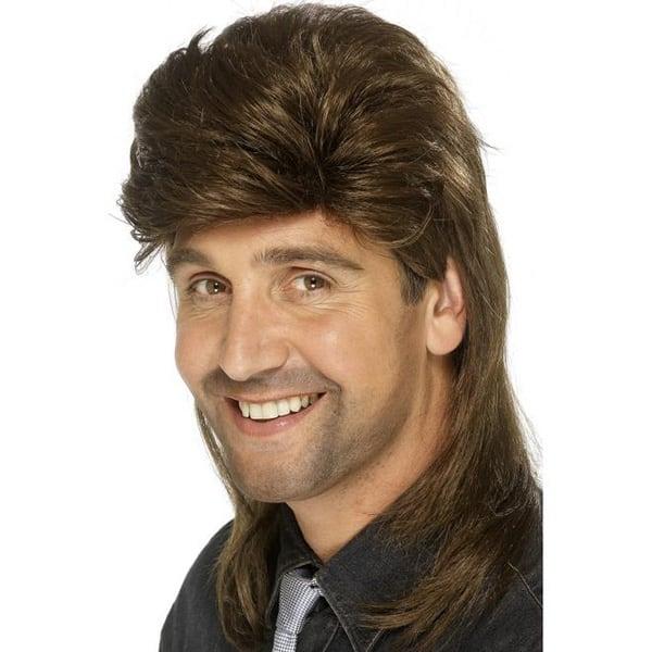 Brown Jason Donovan Mens Long Wig Product Image
