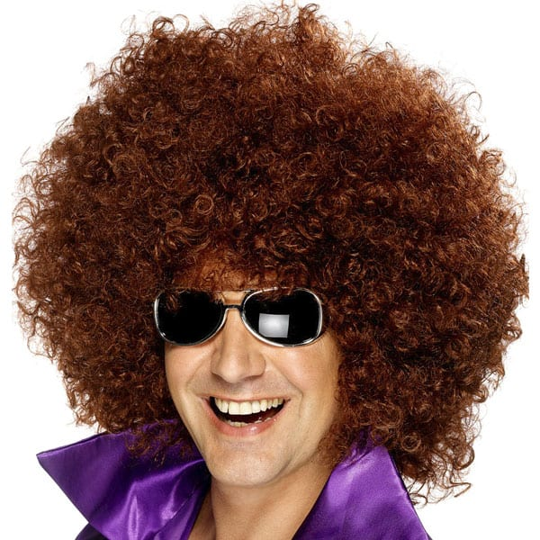 Brown Large Unisex Afro Wig