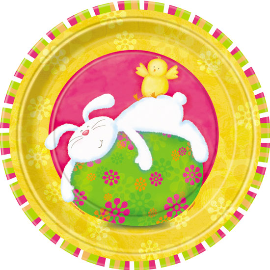 Bunny Pals Paper Plate - 9 Inches / 23cm