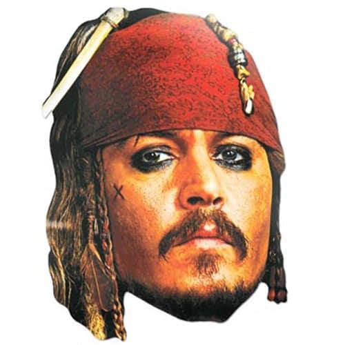 Captain Jack Sparrow Cardboard Face Mask