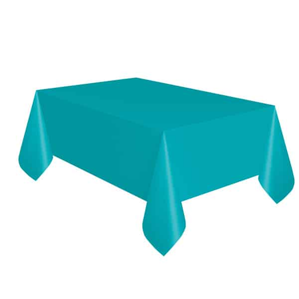 Caribbean Teal Plastic Tablecover 274cm x 137cm Bundle Product Image
