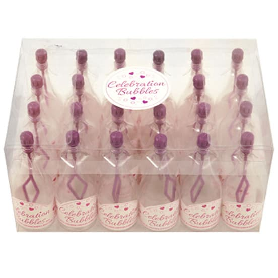 Champagne Bottle Bubbles Purple – Pack of 24