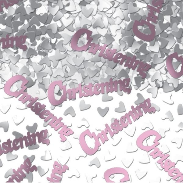 Pink Christening Table Confetti - 14 Grams