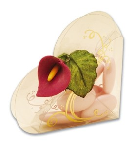 Clear Heart Box with Gold Edging Product Image