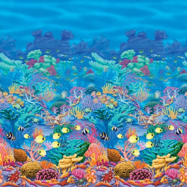 Coral Reef Backdrop Scene Setters Room Roll