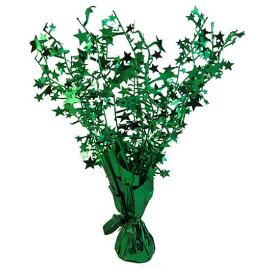 Dark Green Foil Star Balloon Weight Centrepiece Product Image