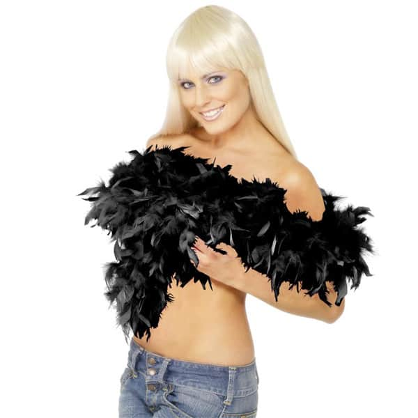 Deluxe Black Feather Boa Product Image